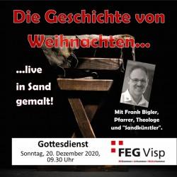 FEG-Visp Die Weihnachtsgeschichte - live in Sand gemalt