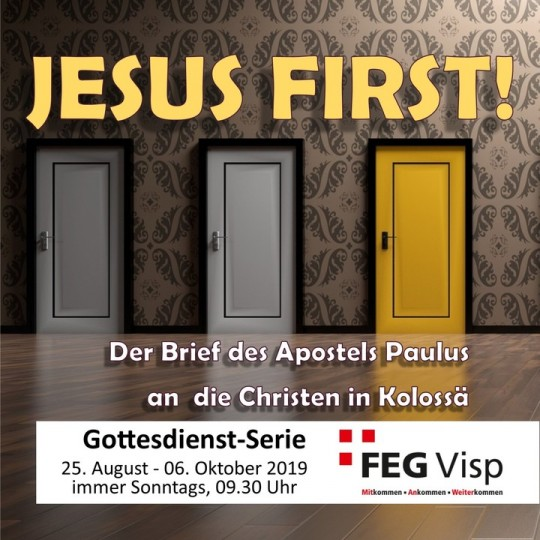 JESUS FIRST - Paulus' Brief an die Kolosser