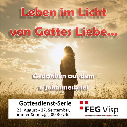 Leben im Licht von Gottes Liebe - der 1. Johannesbrief