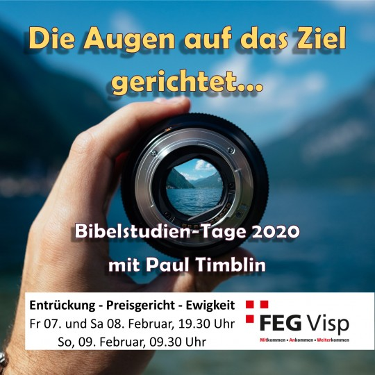 Bibelstudien-Tage 2020 mit Paul Timblin 07.-09.02.2020