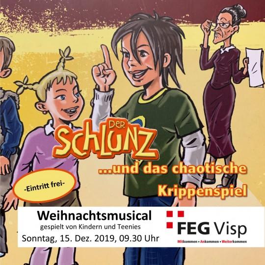 """Weihnachtsmusical 2019: """"Der Schlunz und das chaotische Krippenspiel"""""""